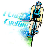 I love cycling banner — Stock Photo