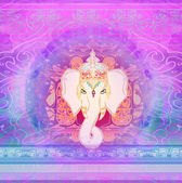 Creative illustration of Hindu Lord Ganesha  — Stock Photo