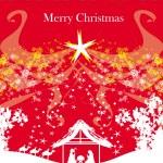 Biblical scene - birth of Jesus in Bethlehem. — Stock Vector #49528143