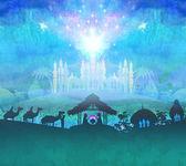 圣经 》 现场-在伯利恒耶稣的诞生. — 图库照片