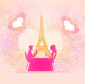 Couple in Paris — Stock Photo