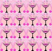 Wine glasses pattern — Stock Photo