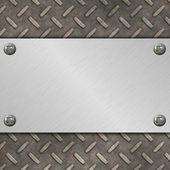 金属のバナー — ストック写真