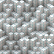 Abstract white cubes — Stock Photo