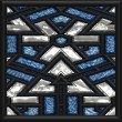 Mosaic window — Stock Photo