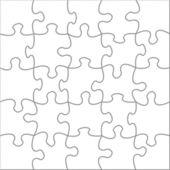Puzzle white — Stockfoto