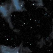 Nebula sky with stars — Stock Photo