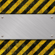 Stock Photo: Metal sign
