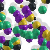 Molecule background — Stock Photo