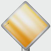 Cartello stradale giallo — Foto Stock