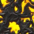 Yellow hot lava background — Stock Photo