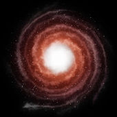 Red spiral galaxy — Stock Photo