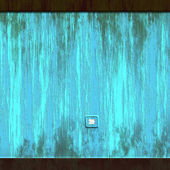 Grunge blue wall background — Stock Photo