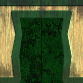 Aged wall with green door — Stock Photo
