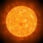 Yellow hot sun — Foto Stock