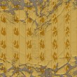 Aged yellow pattern — Stock Photo