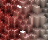 Red cubes texture — Stock Photo