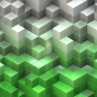 Stock Photo: Green cubes background