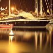 Boats in harbour maritime seascape - Stock Photo