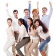 Happy business team group together — Stock Photo
