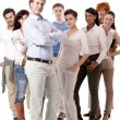 Happy business team group together — Stock Photo #15633293