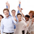 Happy business team group together — Stock Photo #15633295
