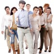 Happy business team group together — Stock Photo #15633301