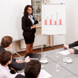 Business meeting presentation flipchart - Stock Photo