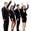 Royalty-Free Stock Photo: Business team diversity happy isolated