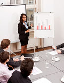 Business meeting presentation flipchart — Stock Photo