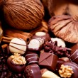 Collection of different sweet chocolate pralines — Stock Photo