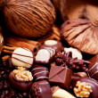 Collection of different sweet chocolate pralines — Stock Photo #18622419