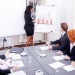 Stock Photo: Business conference presentation with team training