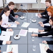 Business team on table in office conference — Stock Photo #18626465