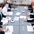 Business team on table in office conference — Stock Photo #18626499