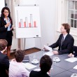 Business conference presentation with team training - Stok fotoğraf