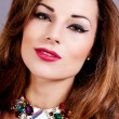 Attractive brunette woman with glamour jewellry — Foto de Stock