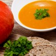 Fresh tasty homemade pumpkin soup — Foto Stock