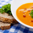 Fresh tasty homemade pumpkin soup — Stock Photo