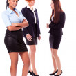 Young african business woman and female team isolated — Stock Photo