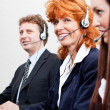 Royalty-Free Stock Photo: Callcenter team business with headphone