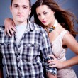 Stock Photo: Attractive young couple glamour styling