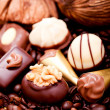Royalty-Free Stock Photo: Collection of different chocolate pralines truffels