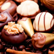 Collection of different chocolate pralines truffels — Stock Photo #21459337