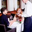 Stock Photo: Cash free payment in restaurant