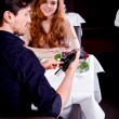 Cash free payment in a restaurant  — Stock Photo