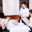 Man and woman in restaurant for dinner - Foto Stock