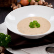 Fresh chmapignon cream soup with parsley — Stock Photo #22173325