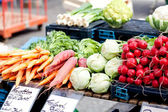 Fresh healthy vegetables on market — Stock Photo