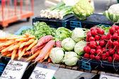Fresh healthy vegetables on market — Stock Photo